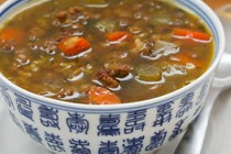 Lentil soup recipe with ground beef and brown rice