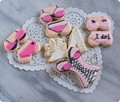 Lingerie shower cookies