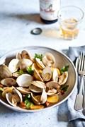 Littleneck clams with chorizo & potatoes