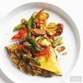 Loaded asparagus hash browns