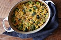 Macaroni-and-cheese (and broccoli) casserole