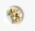 Mackerel tartare with fruit de mer and sea beans