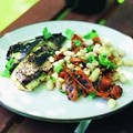 Marinated & grilled fish with carrot, white bean & coriander salad