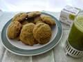 Matcha spelt chocolate chip cookies