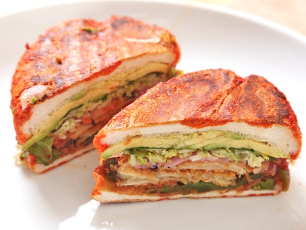 Mexican mushroom and spinach sandwich (vegan torta) recipe | Eat Your ...
