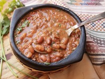 Mexican pinto beans with bacon and chilies (Frijoles charros)