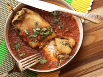 Mexican-style cheese-stuffed chilies (Chiles rellenos)