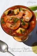 Mexican-style shrimp cocktail (Cóctel de camarón)
