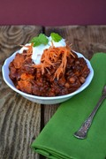Mexican sweet potato and Puy lentil mole