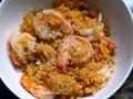 Michael Lomonaco's Sicilian shrimp and couscous