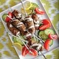 Middle Eastern kofta kebabs with lemon-tahini sauce
