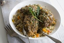 Miso-smothered chicken