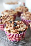 Mixed berry granola muffins