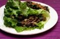 Mole beef summer veggie lettuce wraps