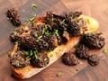 Morel mushroom tartine with chives