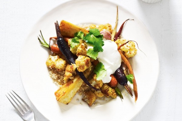Moroccan roasted vegetables with couscous (page 94)