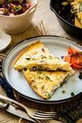 Mushroom-asparagus frittata