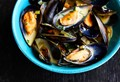 Mussels with blue cheese and white wine