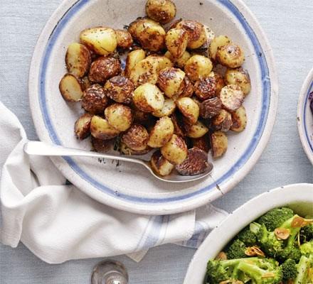 Mustard-glazed roast new potatoes (page 13)