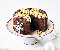 My totally messed-with Christmas cake