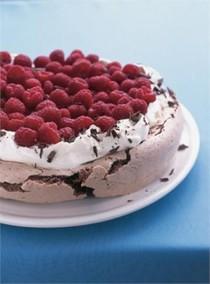 Nigella Lawson's chocolate raspberry Pavlova