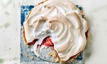 Nigella Lawson's rhubarb meringue pie