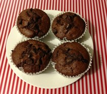 Nigella's chocolate chip muffins in the Thermomix