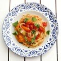Nine minute one pan linguine with tomatoes, chilli and basil