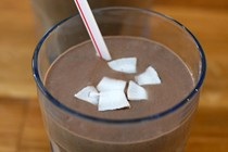 No dairy chocolate smoothie with pumpkin seed butter