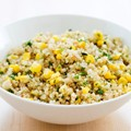 No-fuss quinoa with corn and jalapeños