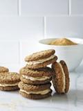 Oatmeal and turbinado cream cookie sandwiches