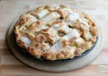 Old-fashioned attice apple pie