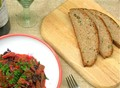 Olive garlic halloumi spelt bread - Eliopsomi