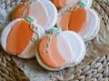 Ombre pumpkin cookies