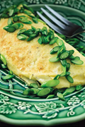 Omelet of garlic scapes