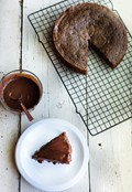 One bowl chocolate sour cream cake with or without quick glaze