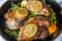 One pot lemon chicken and asparagus