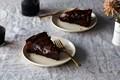 Ooey and gooey double-baked chocolate cake