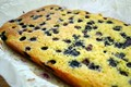Orange and blueberry polenta and almond traybake