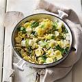 Orecchiette pasta with sweetcorn, ricotta & basil