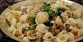 Orecchiette with chickpea and broccolini