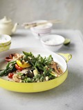 Outdoors Thai green curry