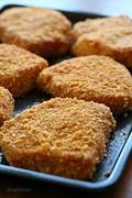 "Oven ""fried"" breaded pork chops"