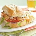 Pan-seared shrimp po' boys