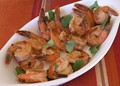 Pan-seared shrimp with chipotle glaze