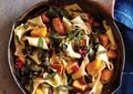 Pappardelle with butternut squash, browned butter, and chard