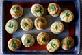 Parsley pecorino biscuits