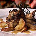 Partridges with apples, cream and Calvados