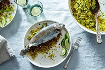 Parvin's tamarind stuffed fish