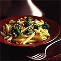 Pasta with broccoli, garlic, and chilli